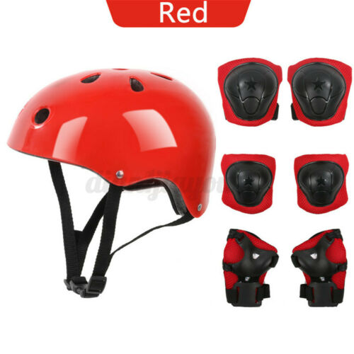 7PCS Kit Boys Girls Kids Safety Skating Bike Helmet Knee Elbow Protective Gear