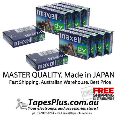 CASSETTES NEW 10 x TOP GRADE MAXELL DVM-60 MINI DV DIGITAL CAMCORDER TAPES