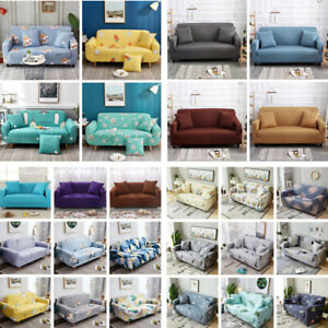 1-4 Seater Pure Stretch Elastic Sofa Cover Slipcover Couch Cover Chair Protector