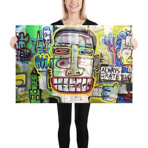 NEO-Street-Art-Graffiti-Print-Urban-Deco-Words-Dada-Poster-Wall-Pop-Spray-FACES