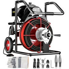 Vevor 100 X 12 Drain Cleaner 550w Electric Sewer Snake Machine With Cutters