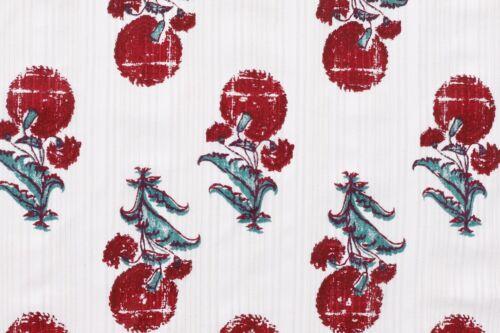 100/% Cotone Tessuto Mano Stampa Sartoria Cucito Vestiti Handmade Fai Artigianato