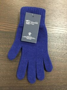 Men's Pure Cashmere Gloves | Johnstons of Elgin | Made in Scotland | Royal Blue