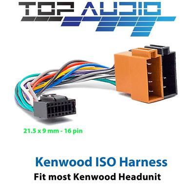 jvc iso wiring harness kdr862bt kdr661 kdr461 kdr336 kdx320bt kdx220   ebay