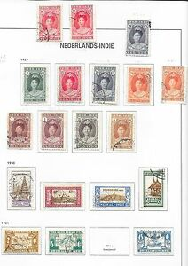 Netherlands Indes stamps 1923 collection of 19 stamps CatValue $330