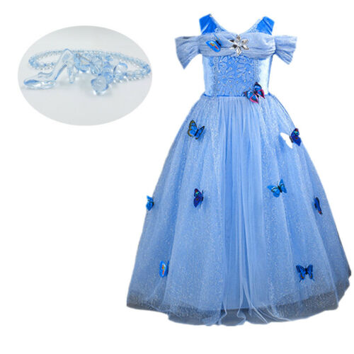 Kids Girl Cinderella Princess Dress Baby Party Dress Kids Sandy Cosplay Costume