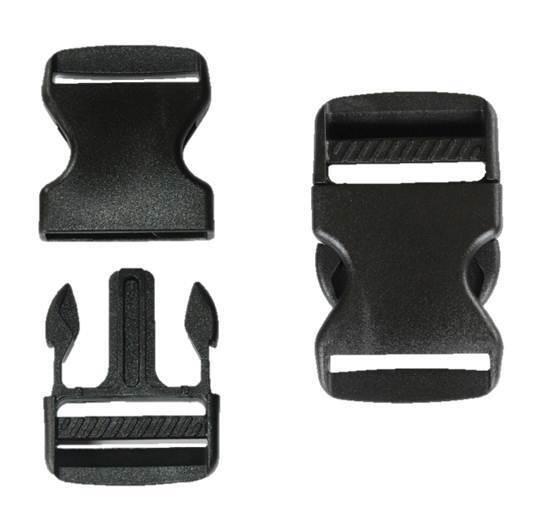 38mm Black Plastic Side Quick Release Buckle Clip Cord Strap Backpack Bag Re Ebay