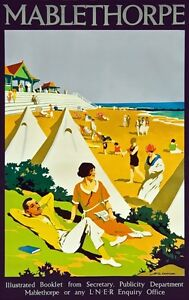 TX297-Vintage-Mablethorpe-LNER-Railways-British-Travel-Poster-Re-Print-A2-A3-A4