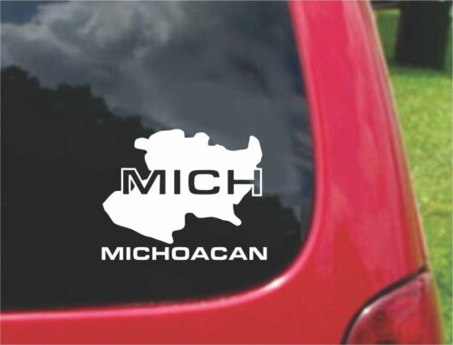 2 Michoacan Mexico Outline Map Stickers Decals 20 Colors To Choose From PCS