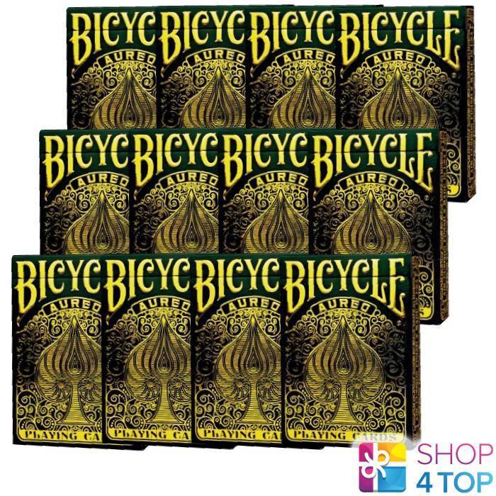 12 DECKS OF BICYCLE AUREO PLAYING CARDS MAGIC TRICK BY LEONARD DA VINCI NEW