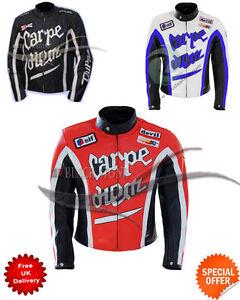 Jacke Details Und Weiß Leder Alle Größen Schwarz About Rot Motorrad Diem Carpe Farbe Stil 6by7gfvmIY