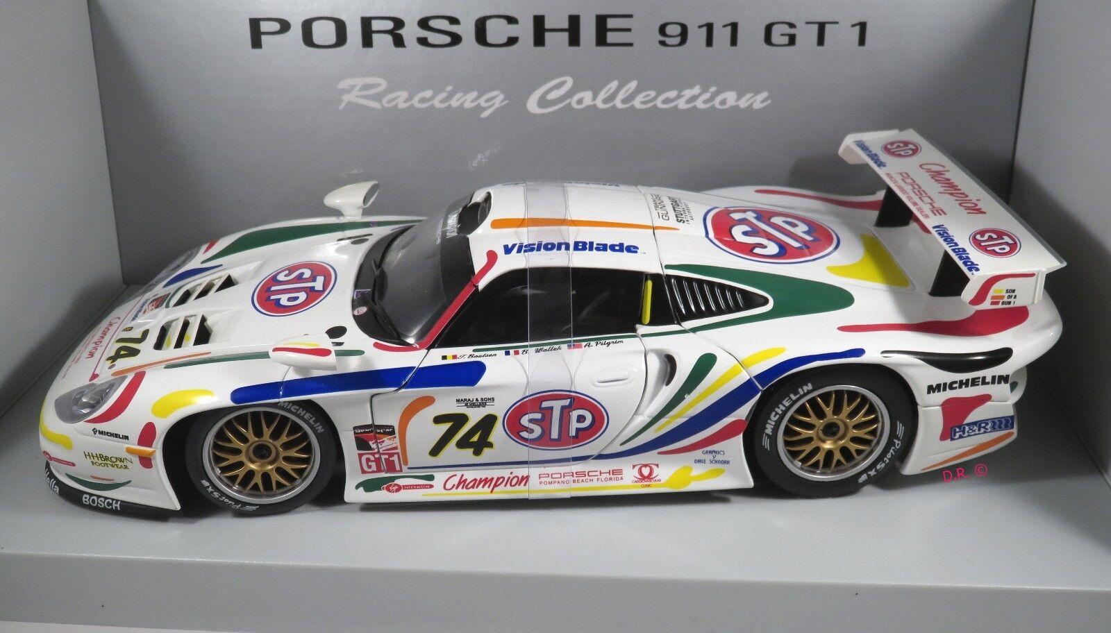 PORSCHE 911 GT1 evo  74 Boutsen Wollek Pilgrim CHAMPION STP SEBRING 1998 UT 1 18