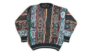 VTG-Bandini-Le-Collezioni-Herren-COOGI-Style-3d-Texturiert-Pullover-XL-Biggie-Bill-Cosby