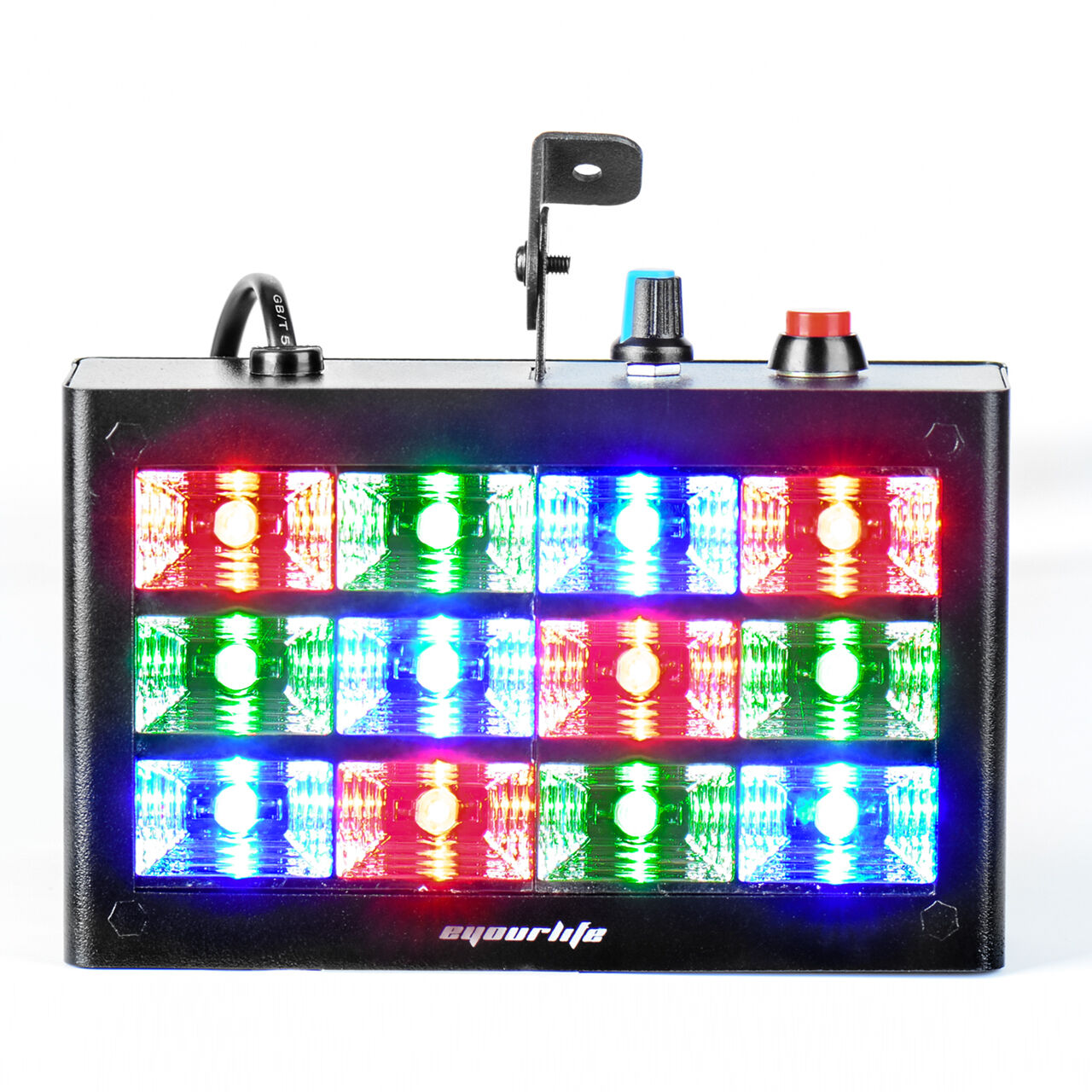 Eyourlife 12 rgb led strobe flash light dj club stage home for Home lighting effects