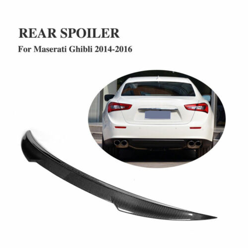 .For Maserati Ghibli Sedan 14-16 Rear Trunk Spoiler Boot Wing Carbon Fiber Refit