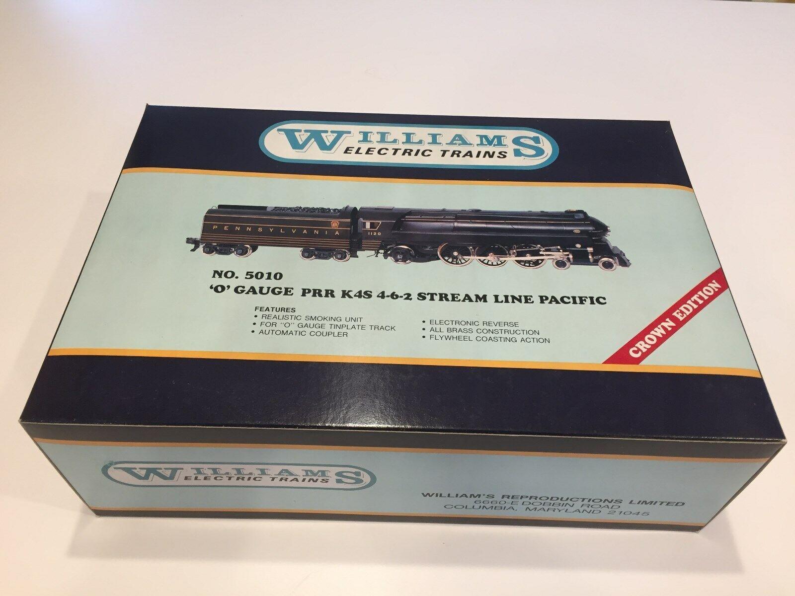 Williams No.5010 PRR K4S 4-6-2 Stream Line Pacific Locomotive Locomotive Locomotive & Tender - NIB 3841f2