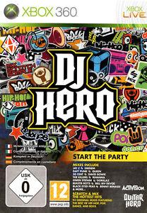 Jeu-pour-XBox-360-XBox-Live-DJ-Hero-Neuf-Sous-Blister