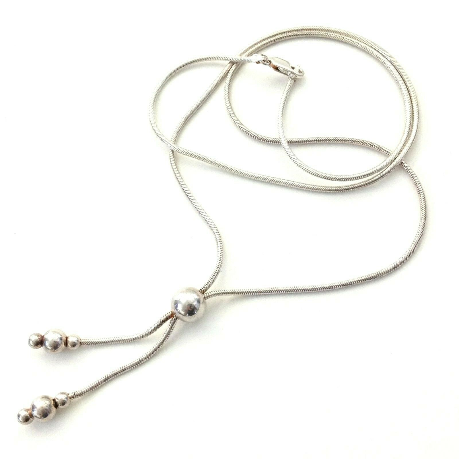 Milor Italy Sterling Silver Dangle Beaded End Sna… - image 7
