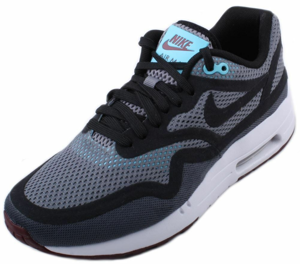 Nike Air Max 1 Breathe femmes Dark Gris / Noir Baskets /Red Athletic Baskets Noir Taille 7.5 871d85