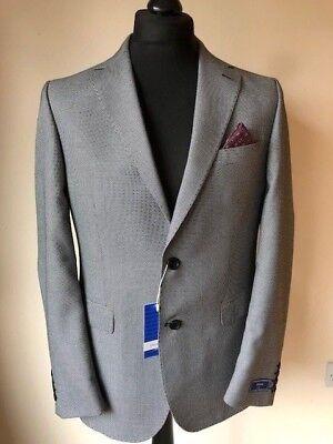 Men's Italian Tailored Blazer / Sports Jacket - Black & White Fleck - See Others