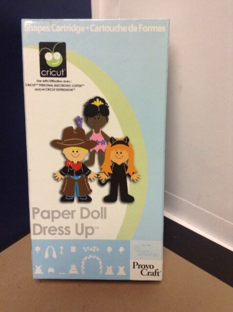 Cricut Cartridge - Paper Doll Dress Up - Gently Used - Complete!