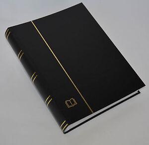 COLLECTA-Luxus-60 weiße Seiten A4 Briefmarkenalbum Einsteckbuch schwarz