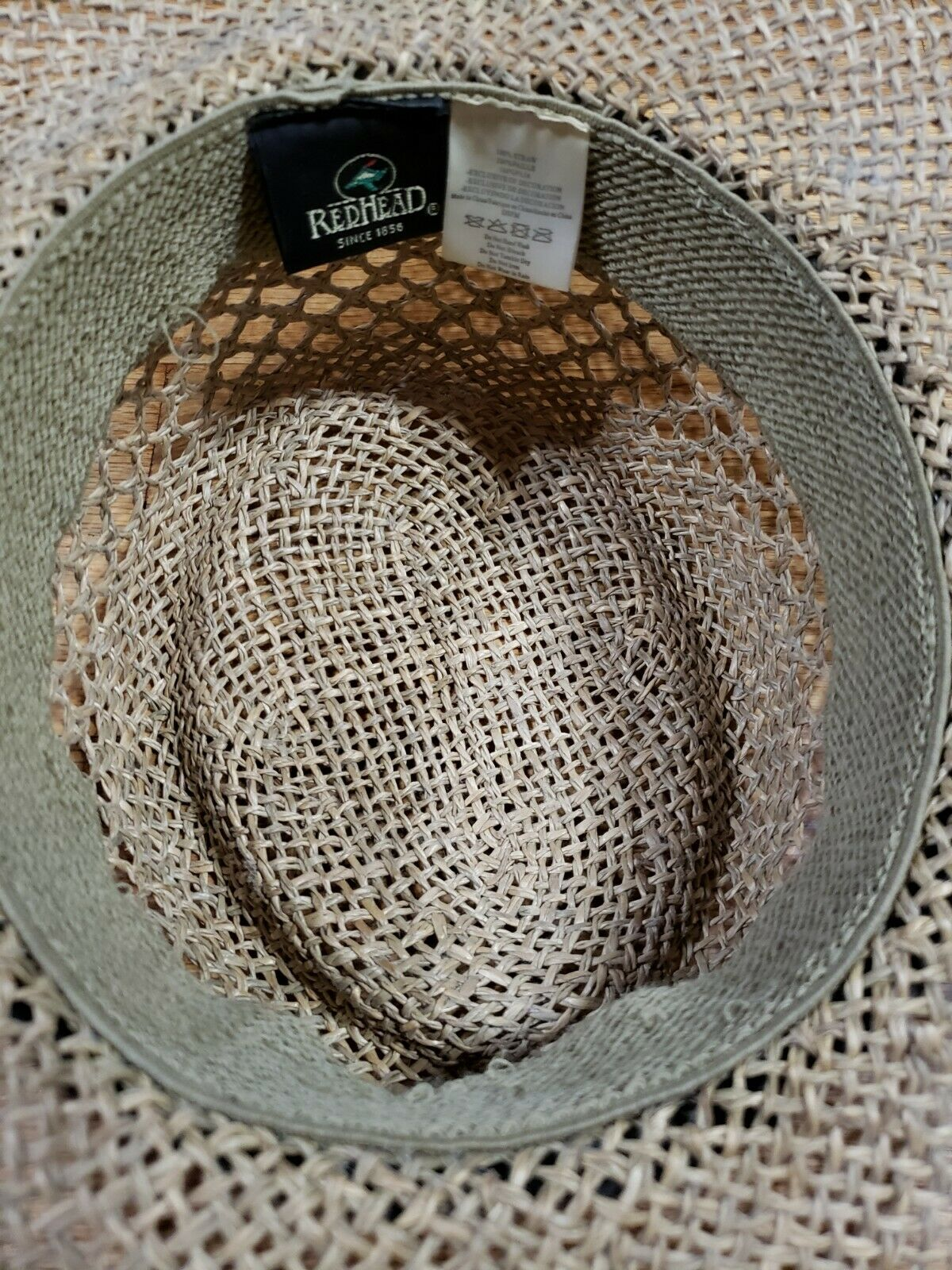 Authentic RedHead Straw Hat Cap 100% Straw One Si… - image 6
