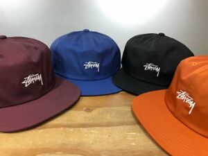 2f356f23b79 STUSSY STOCK POLY COTTON CAP (SELECT A COLOR) SNAPBACK HAT -FREE ...