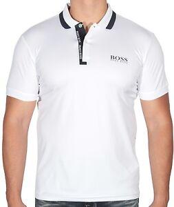 0716a8ad3 New HUGO BOSS Men's Paddy Pro 2 Polo Shirt T-Shirt Stretch White ...