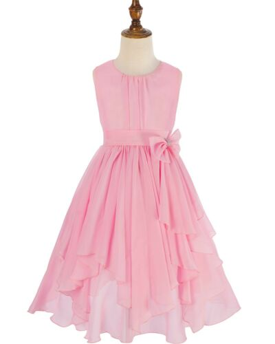 Flower Girl Dress Kids Child Party Wedding Bridesmaid Princess Gown Formal Dress