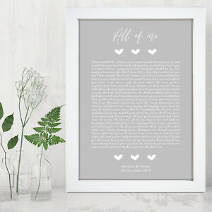 Personalised-Our-Song-Lyrics-First-Dance-Print-Wedding-Anniversary-Gift-Frame