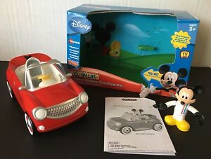 Details about Disney Mickey Mouse Clubhouse Counting Car with Race Driver  Talkin Bobbin Figure