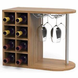 In-Legno-Vino-Cremagliera-Bottiglia-Armadio-di-Stoccaggio-da-Parete-Vetro-Porta