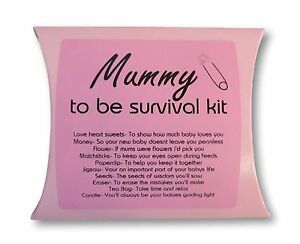Mummy To Be Survival Kit Pink Box And Sticker Mum Baby Shower Gift