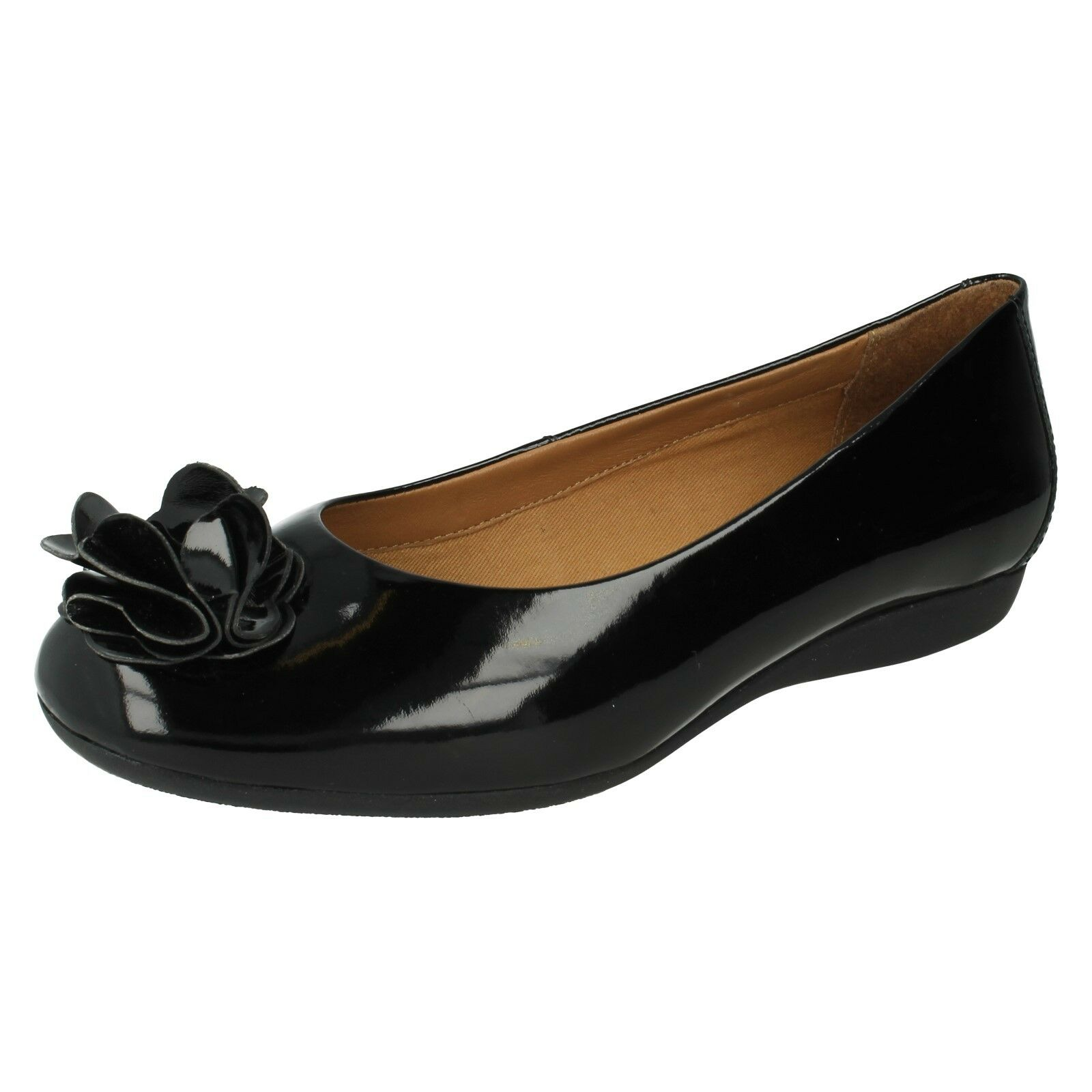 LADIES K PONY BY CLARKS LEATHER FLAT PUMPS SOFT TEXTURED PONY K EFFECT AUDRY TULIP 4588ab
