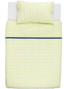 Ikea SKÄMTSAM Baby Bettwäsche 110x125 grün weiß gestreift neu OVP 502.519.82
