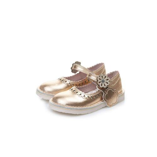 Kickers Kids//Infants Adlar Petal Metallic Pink Velcro Shoes
