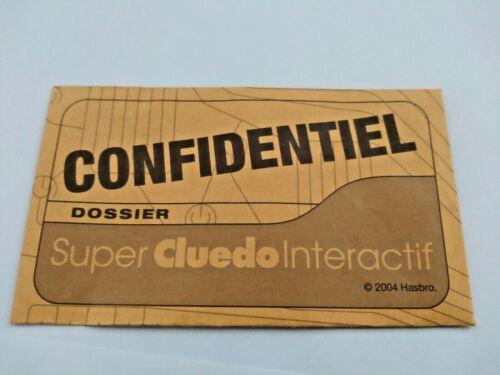 CLUEDO INTERACTIF REMPLACEMENT DOSSIER CONFIDENTIEL PIÈCE D/'ORIGINE