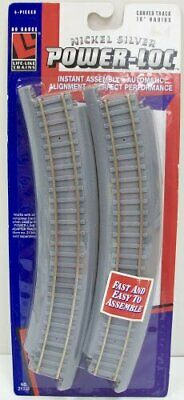 Life Like HO Scale Nickel Silver 18/'/' Radius Curve Track NEW 4Pk 21333