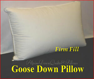 GOOSE-DOWN-STANDARD-FIRM-PILLOW-HOTEL-DELUXE-QUALITY-100-COTTON-COVER