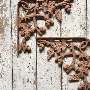 2 Cast Iron Dragonfly Shelf Brackets brown rustic shabby bracket vintage like