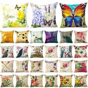 Throw-Case-Cover-Pillow-Floral-Decor-Cushion-Home-Couch-Cover-Pillow-Sofa-Flower