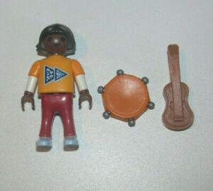 Playmobil-Figurine-Personnage-Enfant-Fille-Marron-Instruments-Musique-NEW