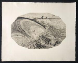 Wenzel hablik, foglio 4: tempesta increspature del mare, acquaforte dal SCONTO, 1915