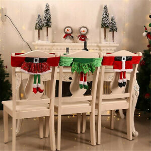 Super Details About Christmas Decorations Non Woven Elf Chair Set Stool Home Party Chair Cover Decor Caraccident5 Cool Chair Designs And Ideas Caraccident5Info