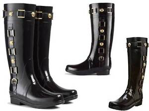 new arrival bad23 81867 Details about Stunningly Beautiful Hunter Black Regent Hurlingham Riding  Rain Boots Very Rare