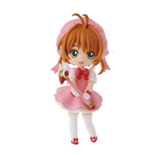 Card Captor Sakura 3'' Sakura in Pink Outfit Banpresto Prize Figure NEW