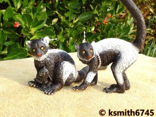 AAA ELC huppée Lémurien Paire solide Jouet en plastique Wild Zoo Animal NOUVEAU *