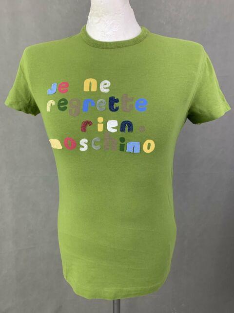 LOVE MOSCHINO Mens Green Crew Neck T-SHIRT Size Small S - TEE / TSHIRT