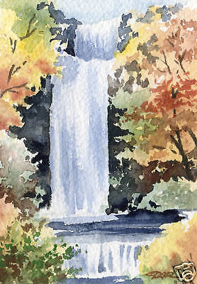 COVERED BRIDGE 3 Painting 5 x 7 Giclee Art Print on Signed by Artist DJR
